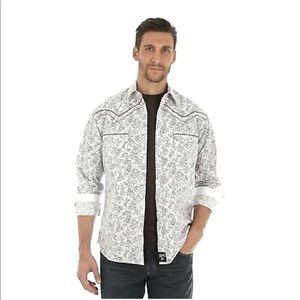 Wrangler Rock 47 Snap Button Paisley Shirt